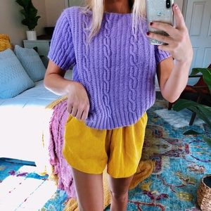 Sweaters - lilac hand-knitted tee
